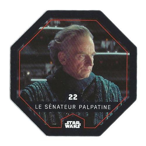 Carte Leclerc Star Wars N°22 2015 Le sénateur Palpatine