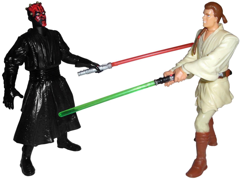 Final lightsaber duel obi wan and darth maul figurine episode 1