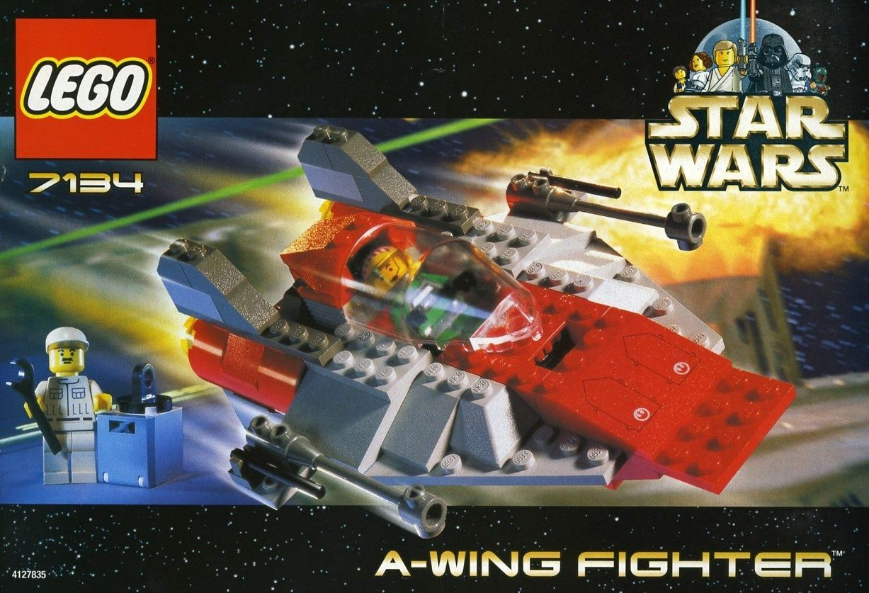 A Wing Fighter Lego Star Wars Set 7134