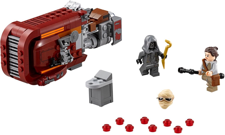 Reys Speeder Lego Star Wars Set 75099 75098 Assault On Hoth