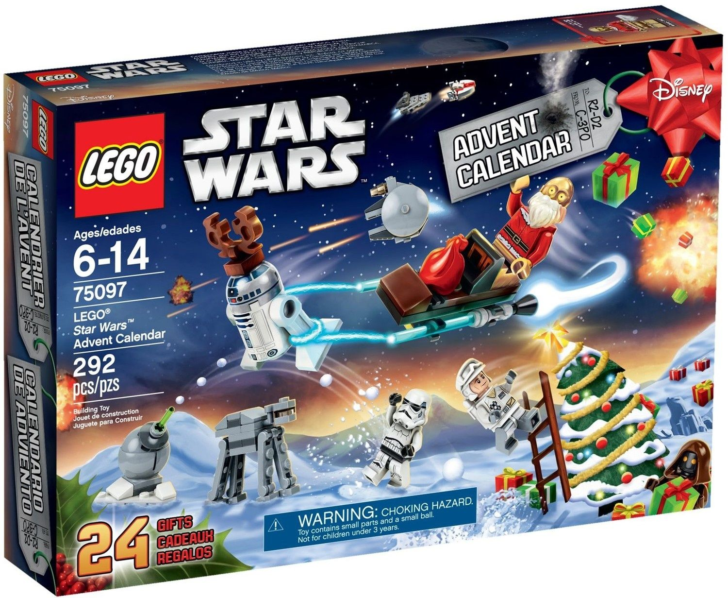 Calendrier Avent Lego Star Wars 2019.Star Wars 2015 Advent Calendar Lego Star Wars Set 75097