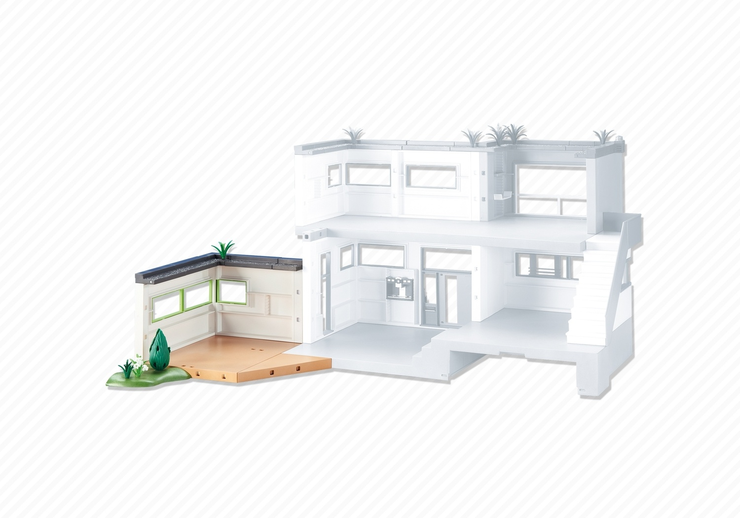 Extension For Modern Luxury Mansion Playmobil Accessories