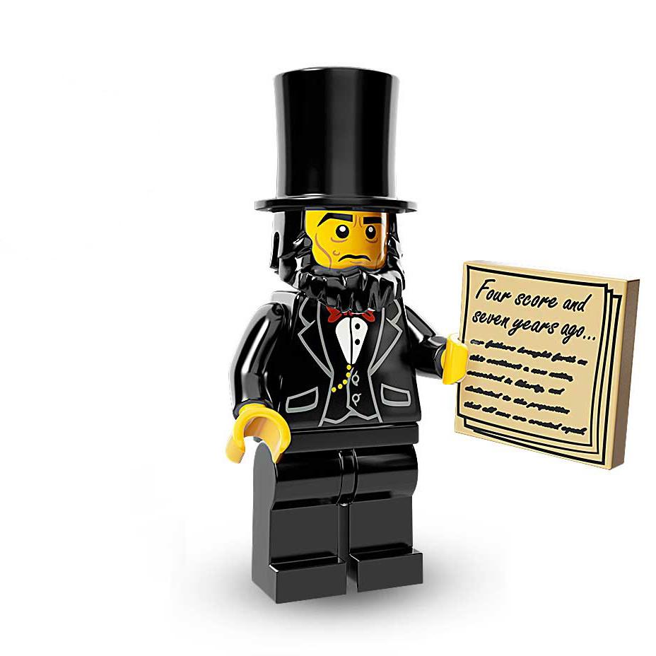 Abraham Lincoln Lego Minifigures Lego Movie Set 71004