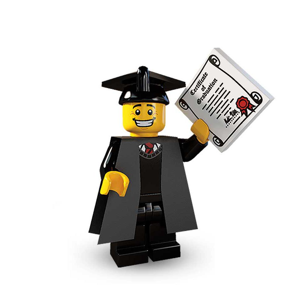 Lego Series 5 Mini Figure Graduate 8805