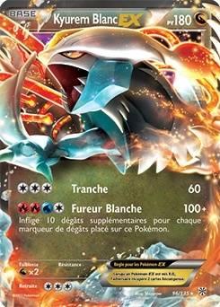 Kyurem Blanc Ex Carte Pokémon 96 135 Tempête Plasma