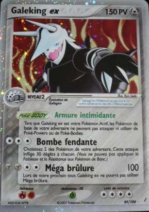 Galeking Ex Carte Pokémon 89 100 Gardiens De Cristal