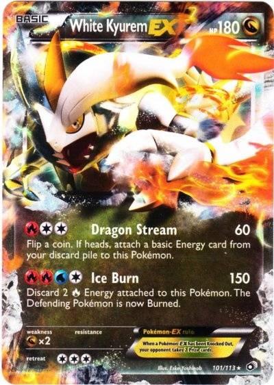 Kyurem Blanc Ex Carte Pokémon 101 113 Trésors Légendaires