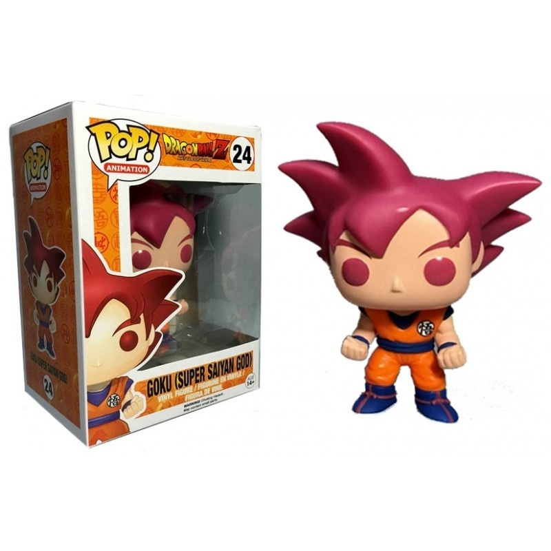Dragonball Z Goku Super Saiyan God Figurine Pop 24 Pop