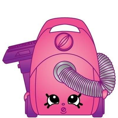 Shopkins Season 3 Vicky Vac Mini Figure 3-104 Team Homewares Pink Vacuum Clean