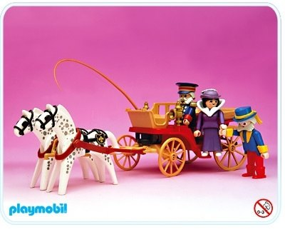 Horse-Drawn Cart with Victorian Lady, Butler and Driver - Playmobil ...