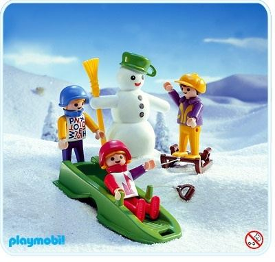snowman and kids playmobil sets 3688 - Playmobil Ski
