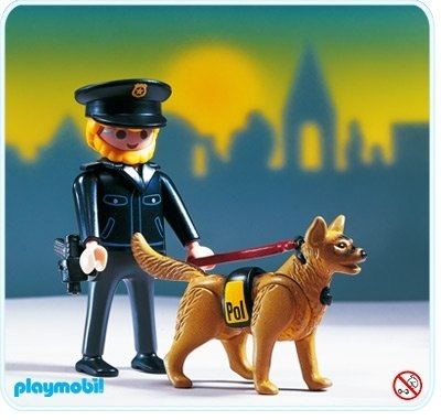 police officer with dog playmobil sets 3985 - Playmobil Policier