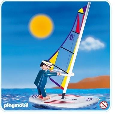 Veliplanchiste Et Planche A Voile Playmobil En Vacances 3010