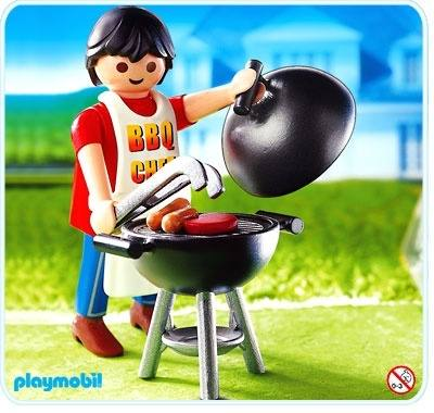 Dad With Barbeque Playmobil Special 4649