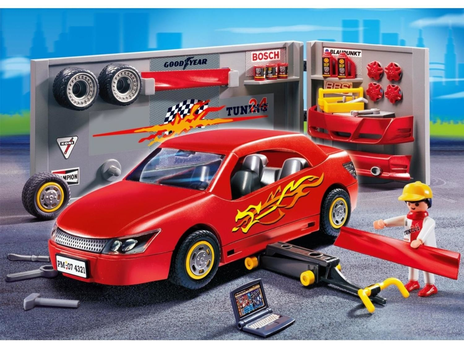 Tuning Avec Mécaniques Atelier Voiture Playmobil 4321 Sports N8y0mOvnw