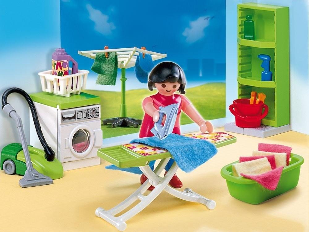 Maison Moderne Etagere Verte Pour Buanderie 4288 Playmobil R275 Toys Hobbies Preschool Toys Pretend Play