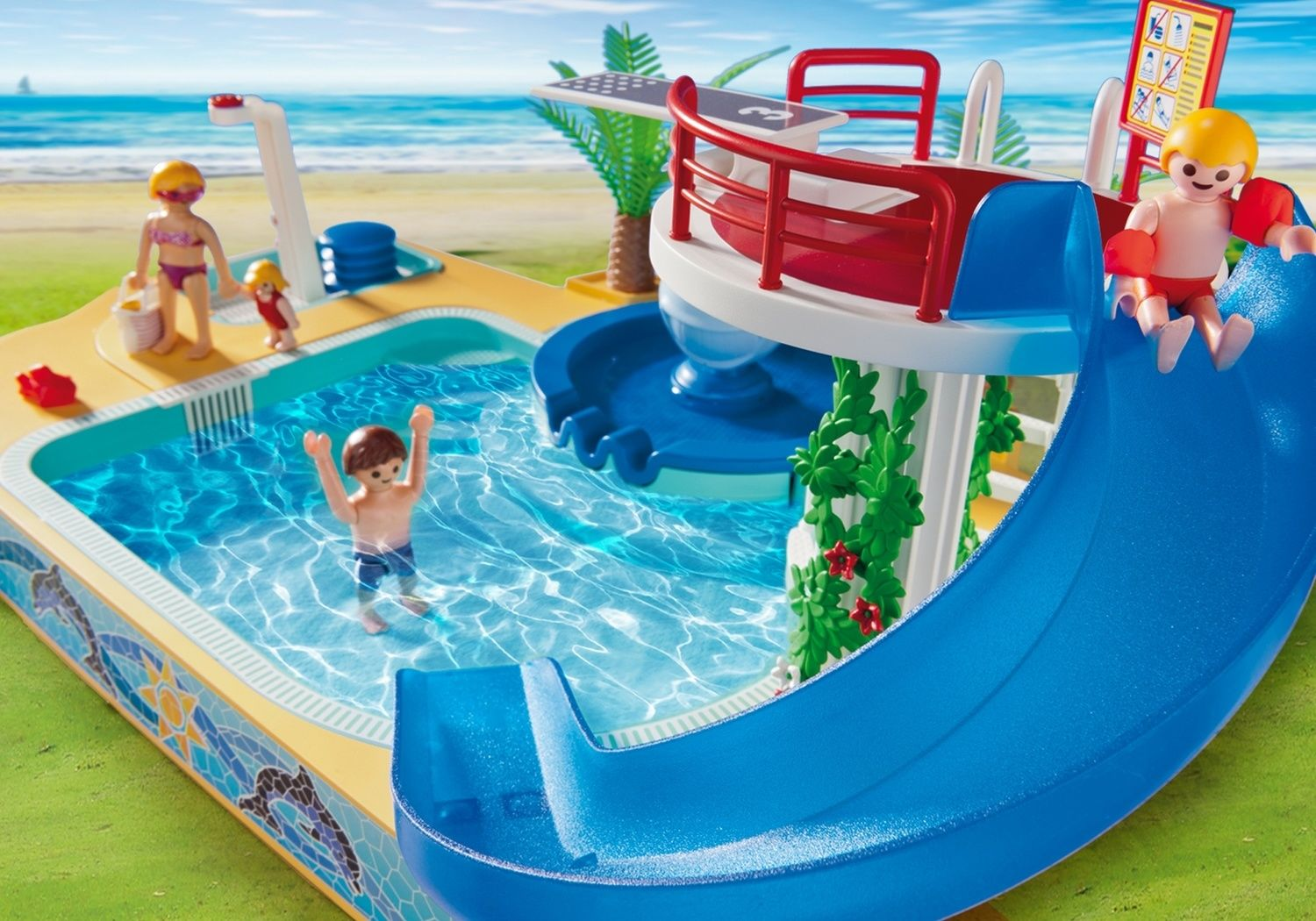 Swimming Pool With Whale Fountain   Playmobil Sets 5433