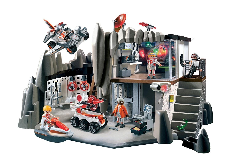 secret agent headquarters with alarm system  playmobil