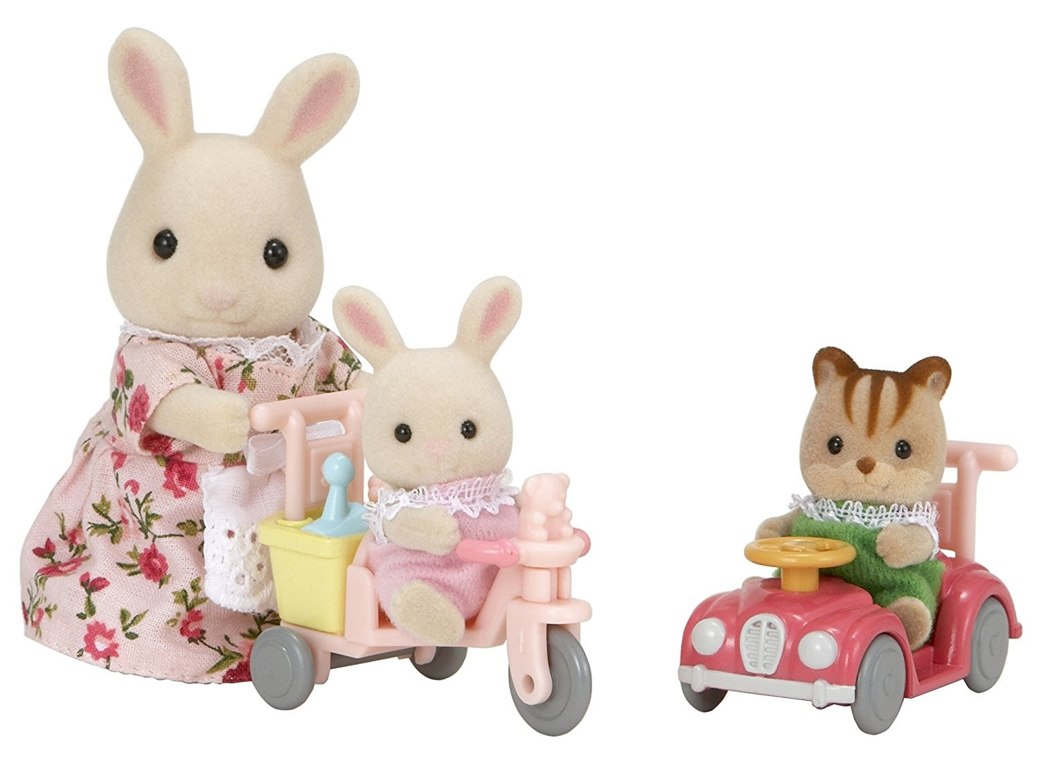 Babies Ride And Play Sylvanian Families Europe Action Figure Walnut Squirrel Family Henry The Milk Rabbit Baby Ambrose Love To Along On Their Tricycles Toys Through Beautiful