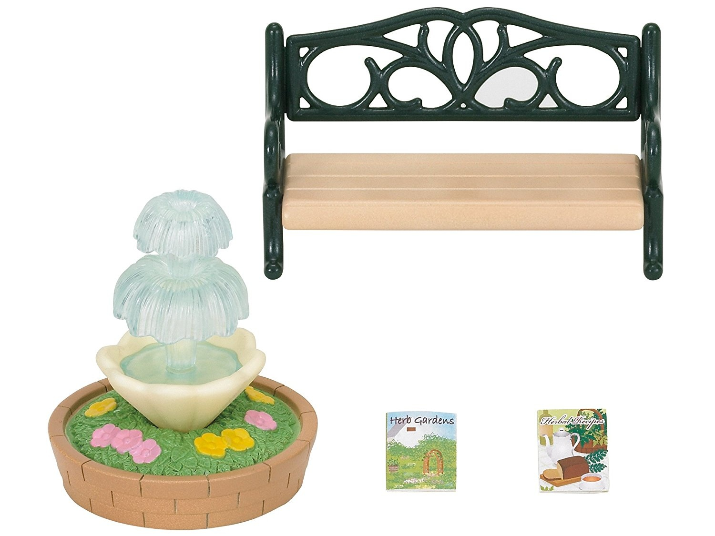 Pleasant Bench And Fountain Sylvanian Families Europe 2243 4535 Machost Co Dining Chair Design Ideas Machostcouk