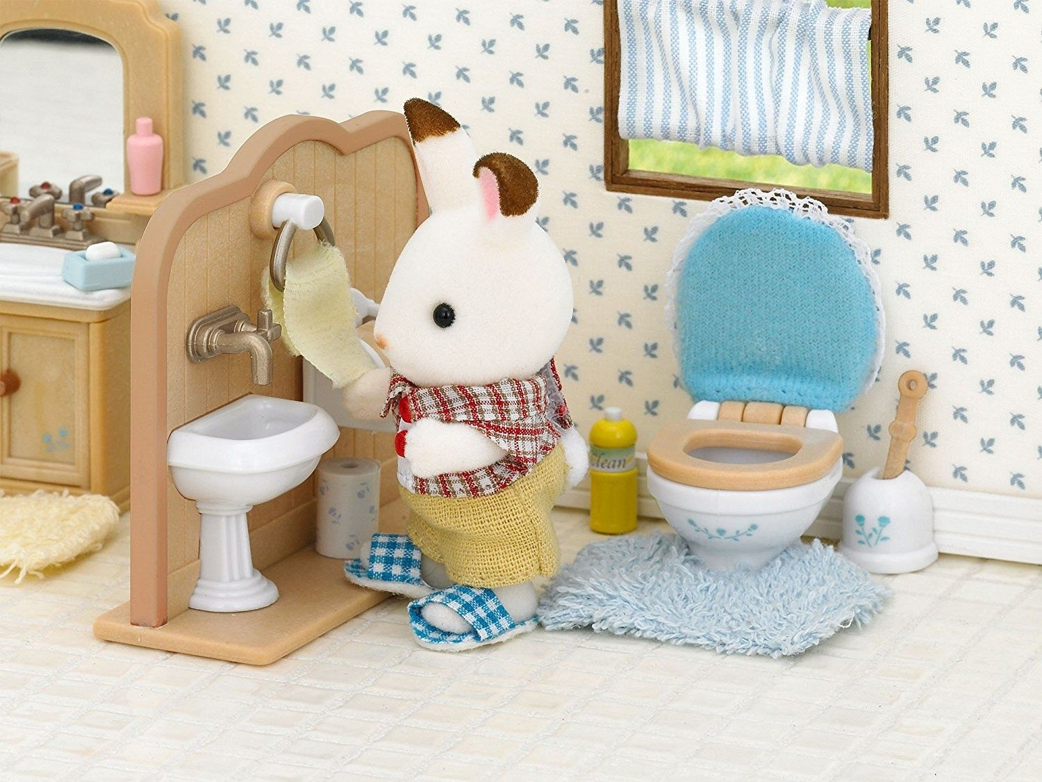 Destockage Meuble Salle De Bain Lyon ~ Bath Room Set Sylvanian Families Europe Action Figure