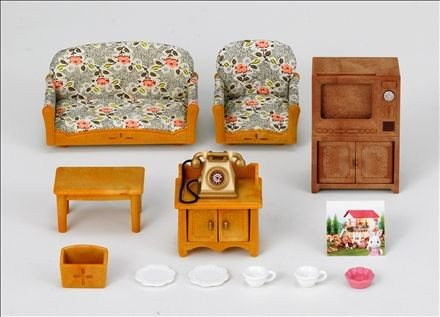 Country Living Room Set With Rabbit Mother - Sylvanian Families ...