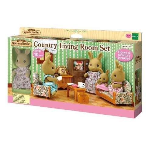 Country Living Room Set With Rabbit Mother   Sylvanian Families .
