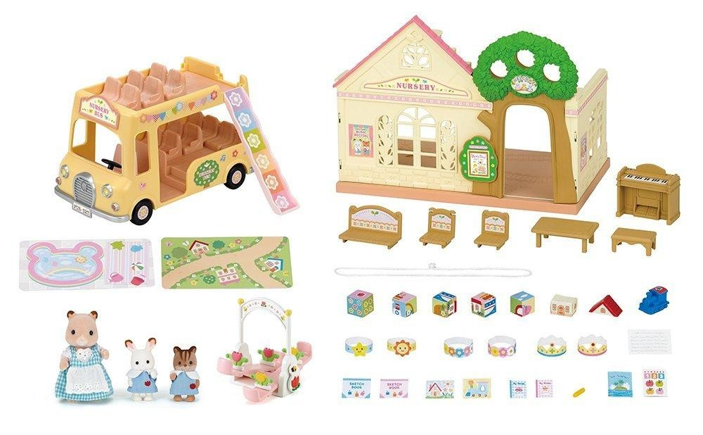 The Forest Nursery Gift Set Comes With Everything You Need For A Fun Day Critter Babies This Contains More Than 30 Pieces Including
