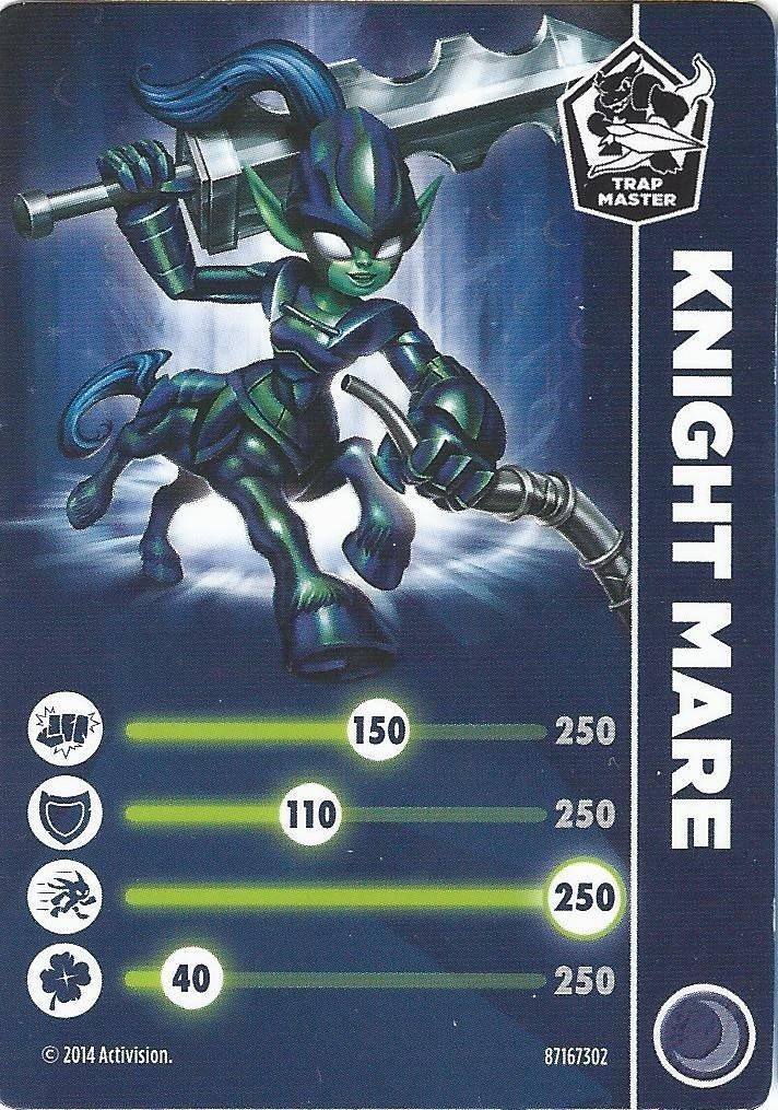 Knight Mare - Skylanders Trap Team Cards