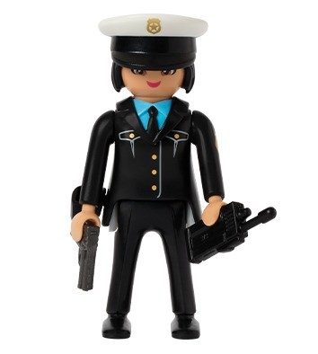 police woman french fast food quick - Playmobil Policier