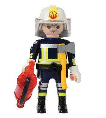 fireman french fast food quick - Playmobil Pompier