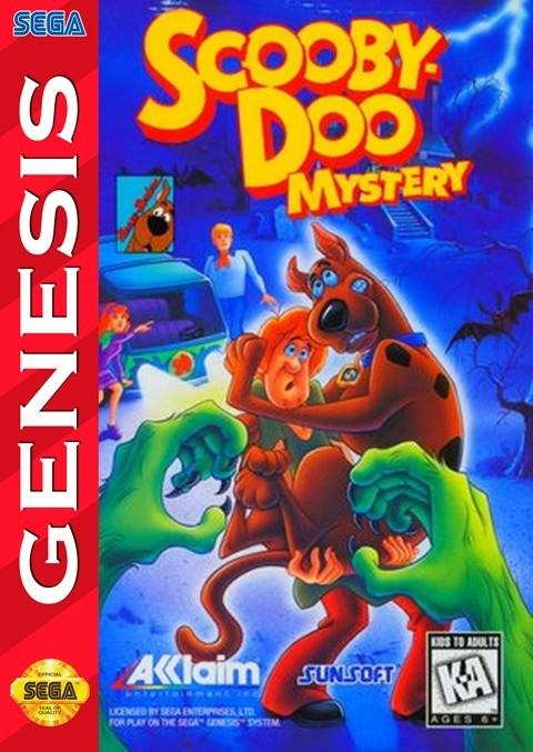 [10] Melhores Jogos Baseados em Cartoons Sega-mega-drive-scooby-doo-mystery