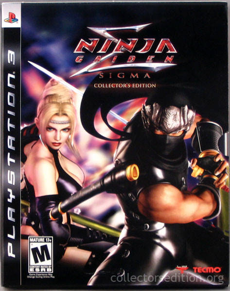 Ninja Gaiden Sigma Collector S Edition Playstation 3 Ps3 Game