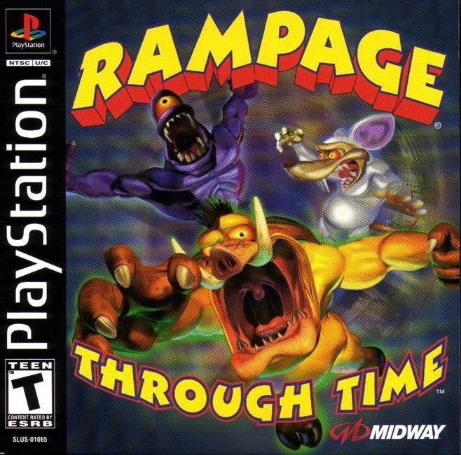 Rampage Through Time Playstation Game