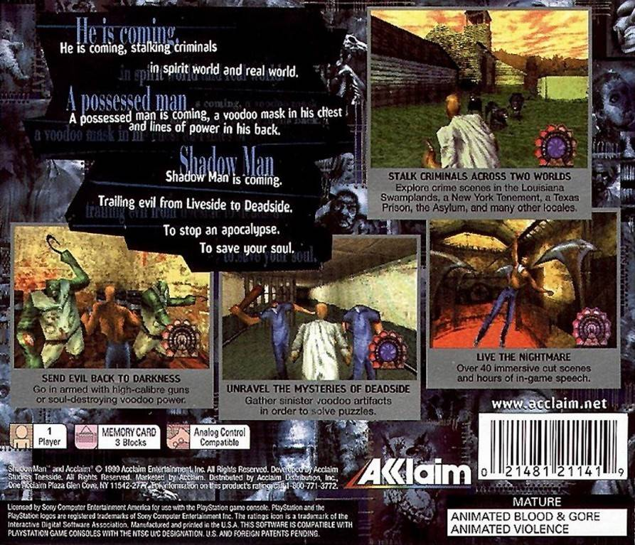 Shadow man - Playstation game