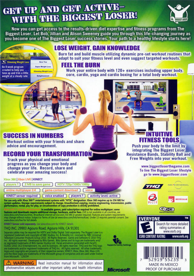 The Biggest Loser: Ultimate Workout - Xbox 360 game