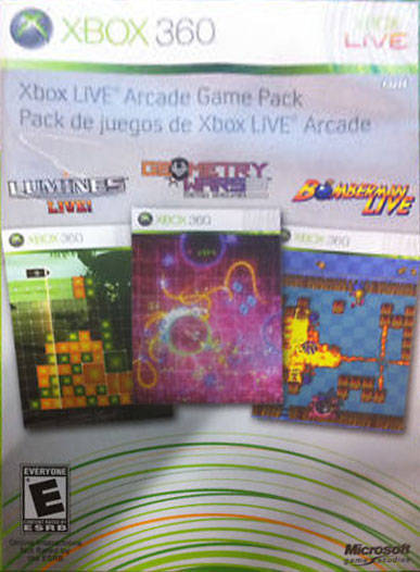 Xbox Live Arcade Game Pack Xbox 360