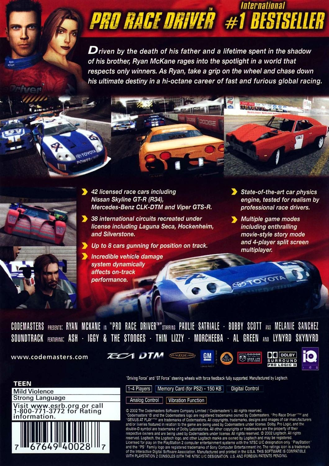 Pro Race Driver - Playstation 2: PS2 game