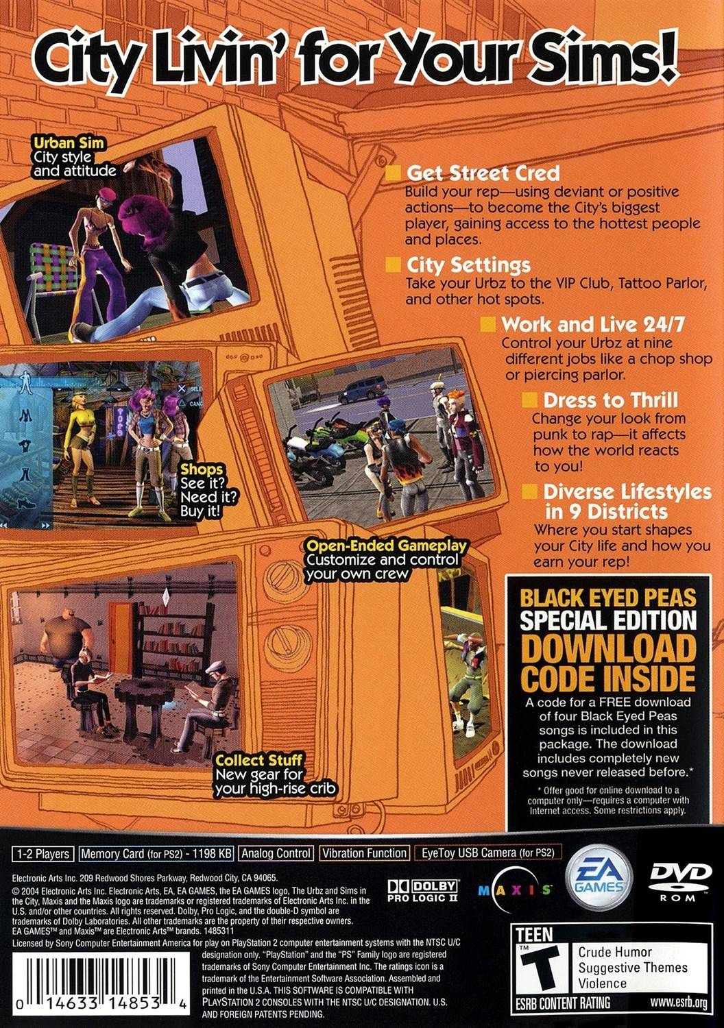 The Urbz: Sims in the City - Playstation 2: PS2 game