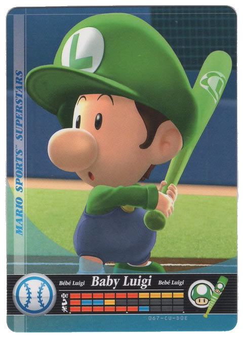 baby luigi baseball mario sports superstars cards amiibo 67