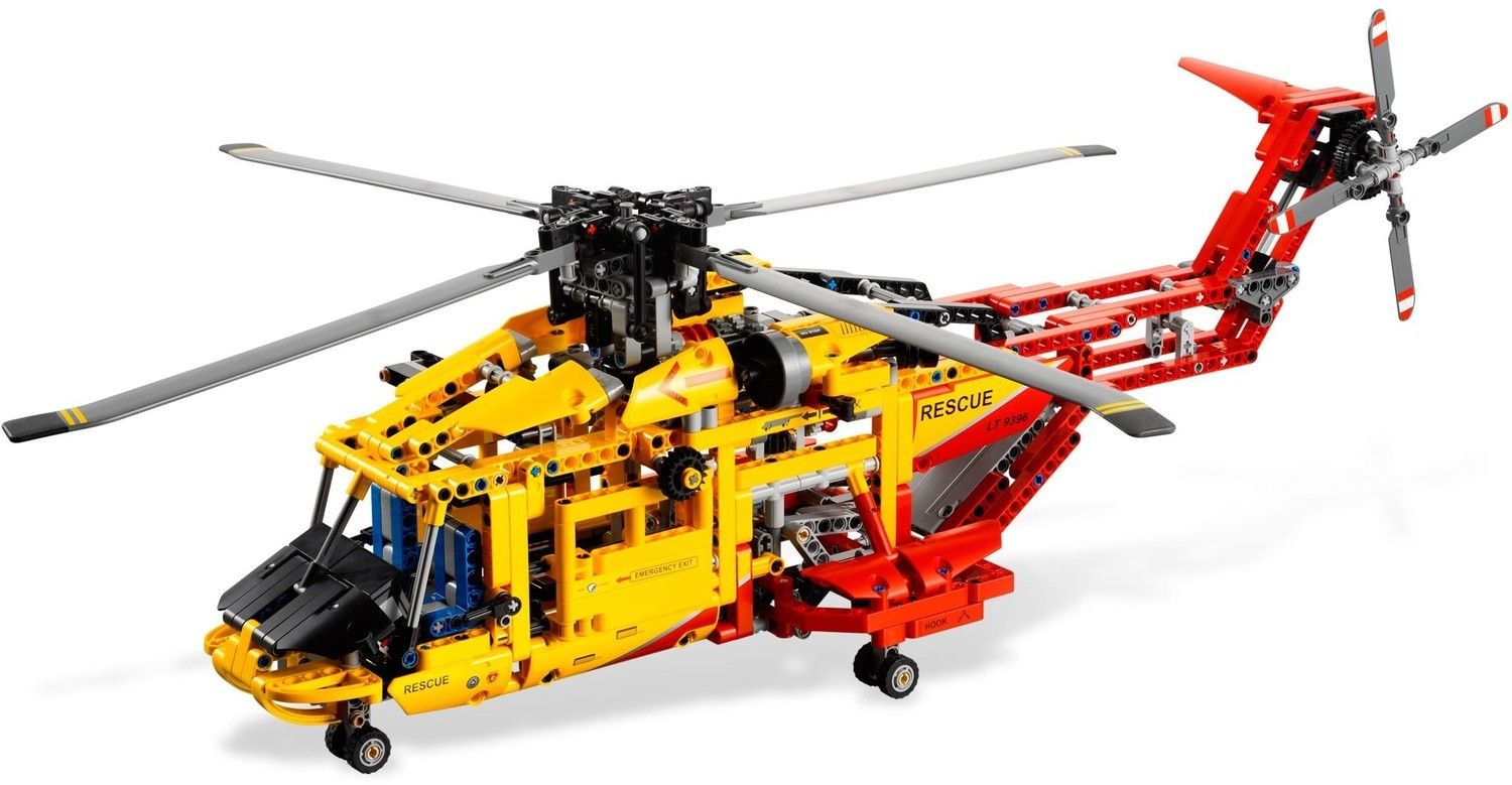 Helicopter Lego Technic Set 9396 Tractor 9393 Pick Up Tow Truck