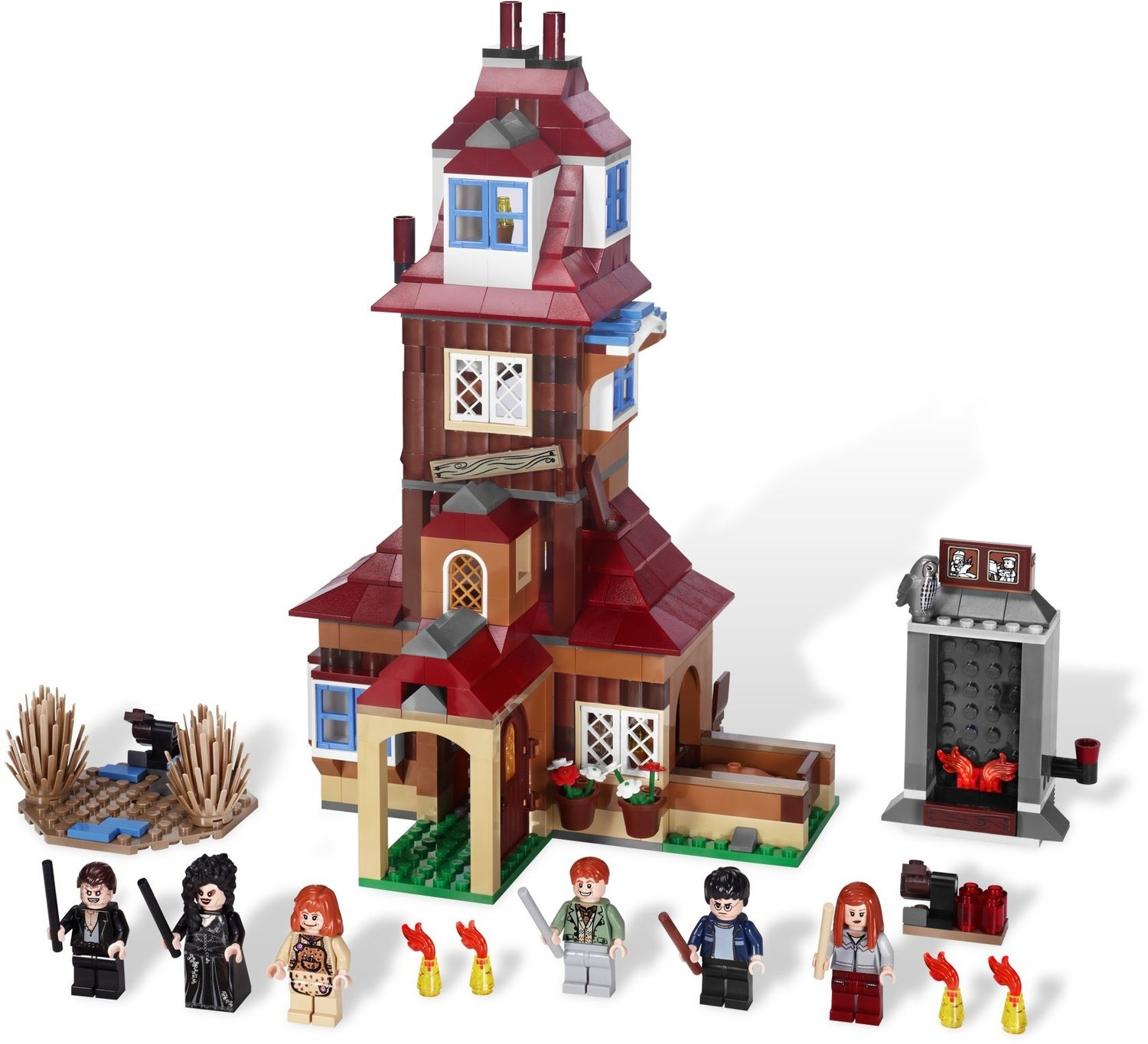 The Burrow Lego Harry Potter Set 4840 The set is modeled on the ship that was sailed by durmstrang students to hogwarts so that they may participate in the prestigious triwizard tournament. the burrow lego harry potter set 4840