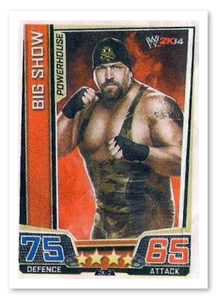 WWE SLAM ATTAX-big show SMACKDOWN trading card