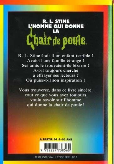 R L Stine L Homme Qui Donne La Chair De Poule Livre