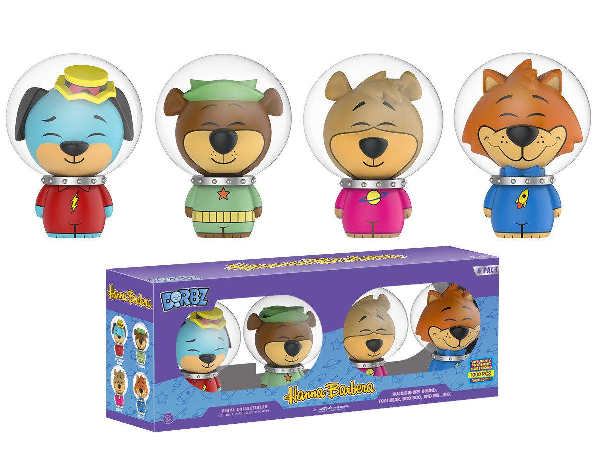 Huckleberry Hound, Yogi Bear, Boo Boo and Mr  Jinx 4 Pack