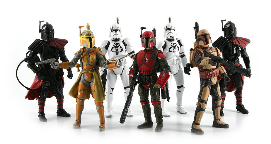 star wars  figurine clone trooper mandalorian