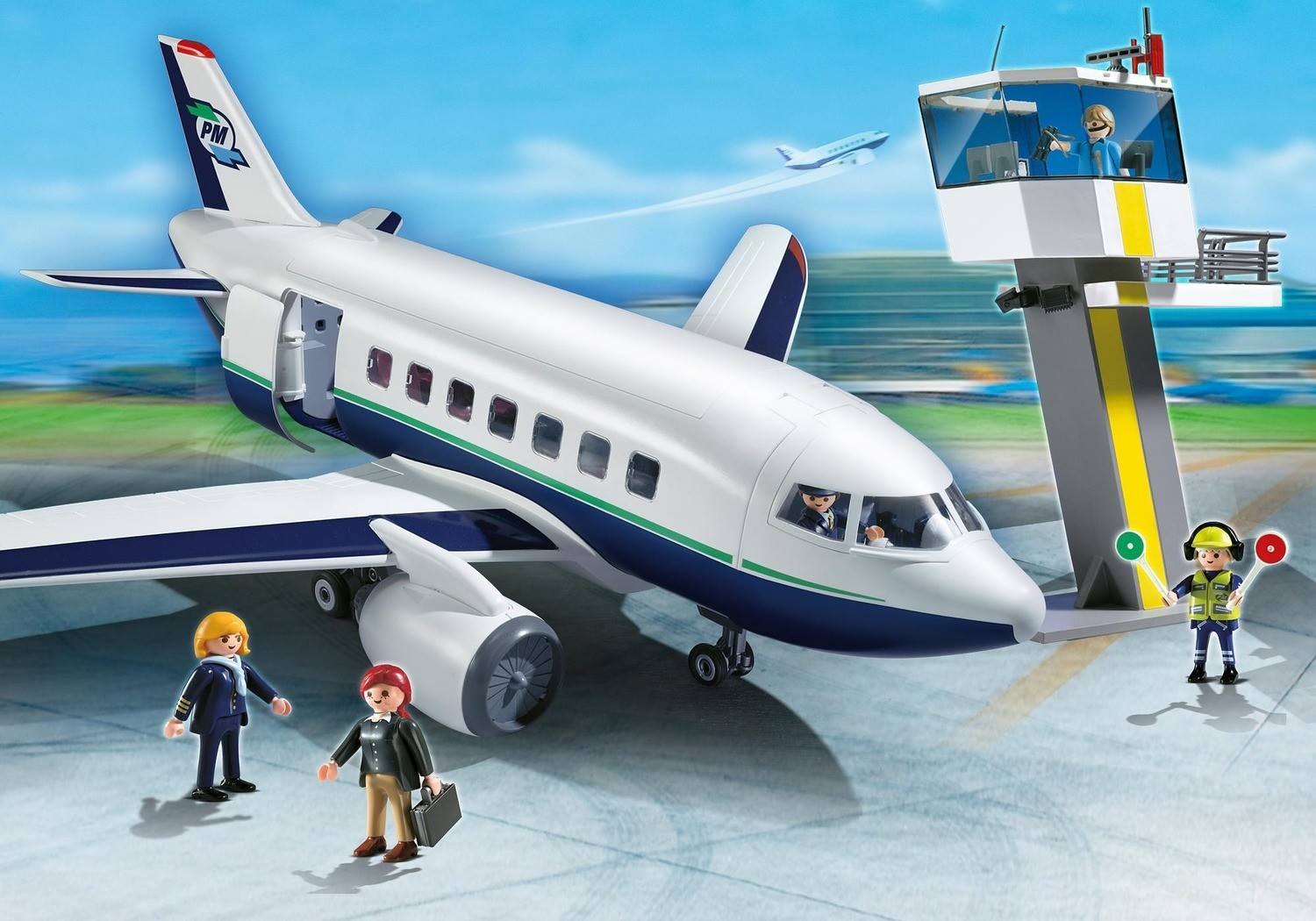 cargo and passenger aircraft playmobil airport planes 5261