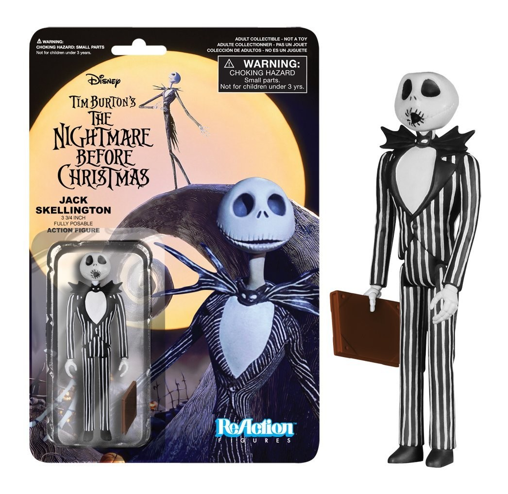 nightmare before christmas jack skellington surprised funko reaction figures - Christmas Jack Skellington