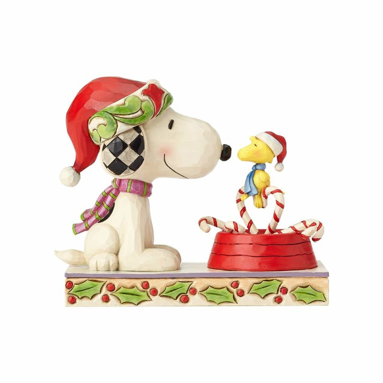 Christmas Snoopy.Candy Cane Christmas Snoopy Woodstock With Candy Cane