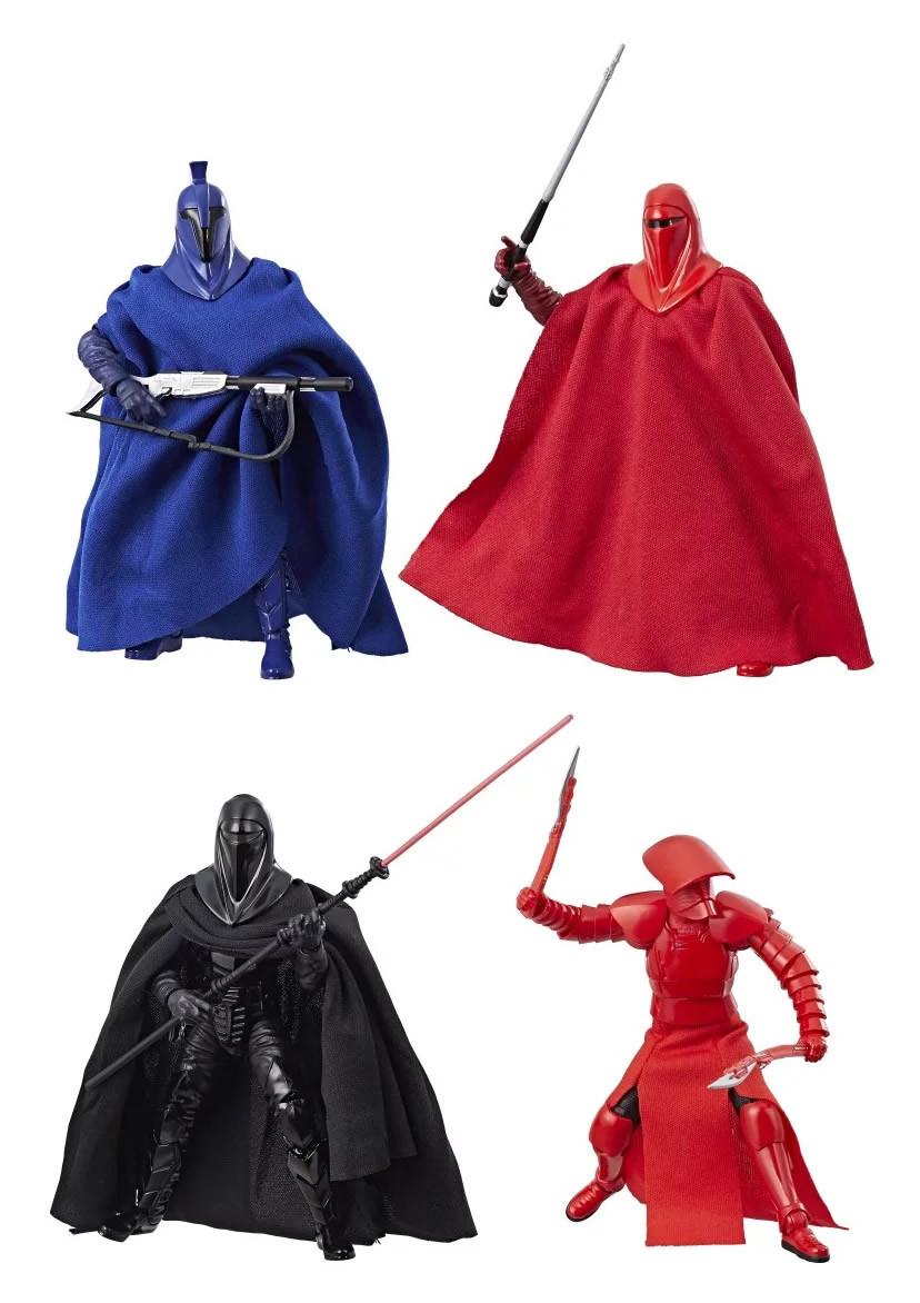 """Guardians of Evil 4 Pack 6/"""" The Black Series STAR WARS Game Stop Exclusive Guard"""